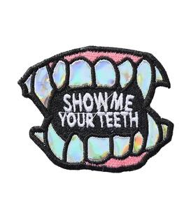 پچ حرارتی هولوگرامی طرح Show Your Teeth
