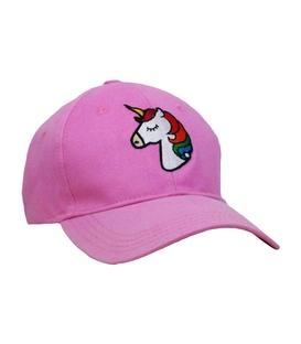 کلاه کپ طرح تکشاخ صورتی