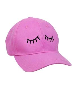 کلاه کپ طرح چشم صورتی