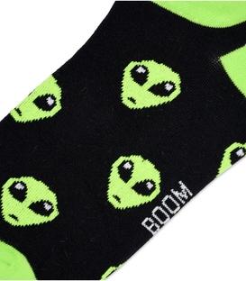 جوراب مچی بوم طرح Alien مشکی سبز