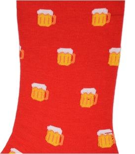 جوراب ساقدار بوم طرح دلستر قرمز