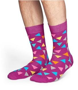 جوراب Happy Socks طرح Triangle بنفش