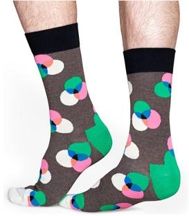 جوراب Happy Socks طرح Spectrum قهوهای