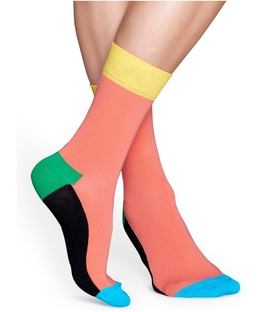 جوراب Happy Socks هپی ساکس طرح Five Color گلبهی