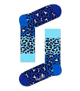 جوراب Happy Socks طرح Block Leopard آبی