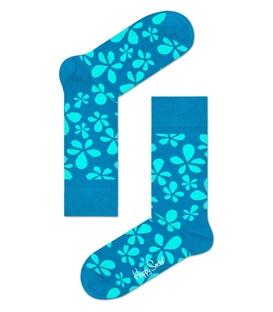 جوراب Happy Socks طرح Flower آبی