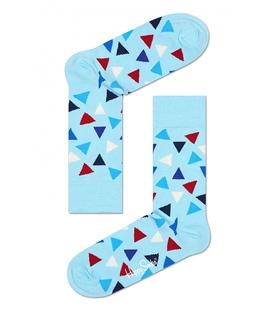 جوراب Happy Socks طرح Triangle آبی