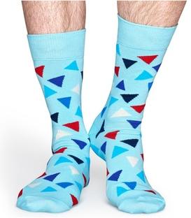 جوراب Happy Socks هپی ساکس طرح Triangle آبی
