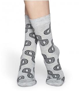 جوراب Happy Socks هپی ساکس طرح Eternity خاکستری