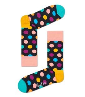 جوراب Happy Socks طرح Big Dot خاکستری
