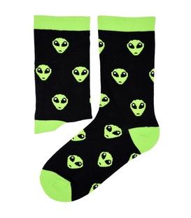جوراب ساقدار بوم طرح الین مشکی سبز